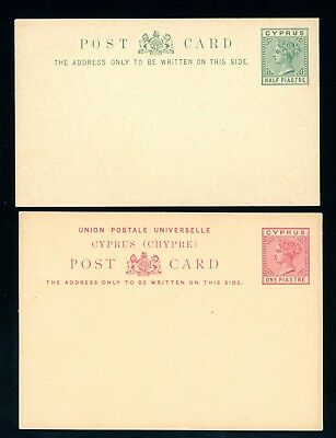 Cyprus  Queen Victoria  Postal Stationery  2 Items    (O1364)