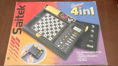 Saitek Electronic 4in1 - Chess, Draughts, Line of 4, Top Mind - Works