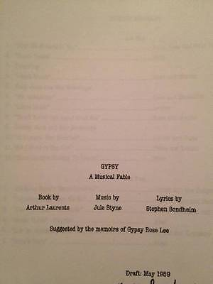 Gypsy Broadway Musical/Stage Script