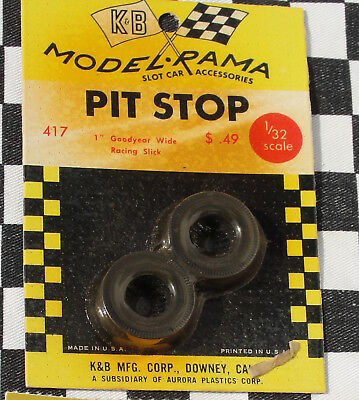 "Modelrama Pair Of Tyres 1"" Goodyear Wide Racing Slick  New Old Stock"