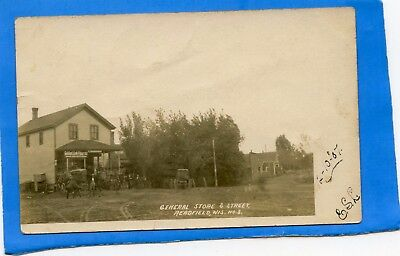 Readfield Wisconsin, 1907 real photo postcard, General Store, Golden Link Flour