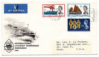 GB 1963 Lifeboat Conference FDC FDI wavy line cancel London WC. VGC