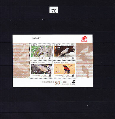 / China - Macau - Mnh - Wwf - Birds