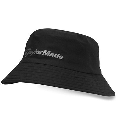 TayloyMade Golf Mens Storm Water Resistant Bucket Hat - Black - L/XL