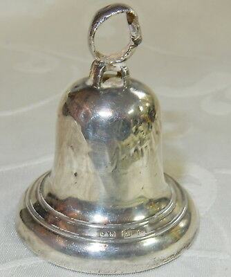 Antique Sterling Silver Miniature Bell Hm 1906  - Crisford & Norris With Hammer