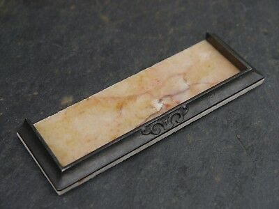 REAL Veined Sunset Marble 1:12th Scale Dolls House Fireplace Hearth