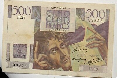 500 Francs Chateaubriand Type 1945 19-7-1945