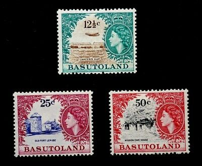 Basutoland, British: 1962 Stamp Collection Scott #79-81 Unused Sound Cv $47.50