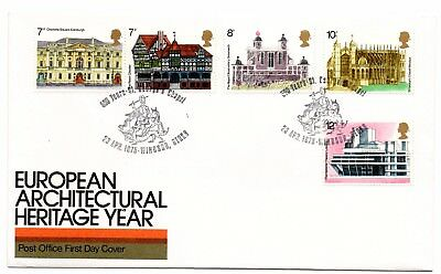 GB 1975 Architecture FDC 500 Years St George's Chapel, Windsor special handstamp