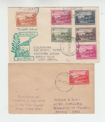 Two very nice Norfolk Island 1947 First Day Cover