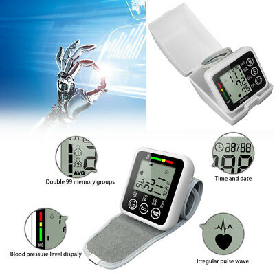 Automatic Digital LCD Arm Cuff Blood Pressure Pulse Monitor Sphgmomanometer LIUK