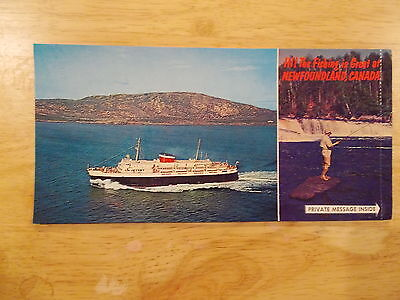 Ship ferry postcard Cn Marine Greetings from Newfoundland with Bluenose ferry