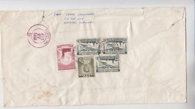 Thailand Registered Airmail Cover w/ stains, tears