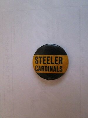 """Old Vintage 1944 Pittsburgh Steelers/Chicago Cardinals 1&1/4"""" Pin-Foxing"""