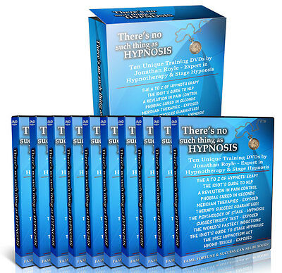 "10 Training DVD Video Set ""There's No Such Thing As Hypnosis"" Hypnotherapy NLP"
