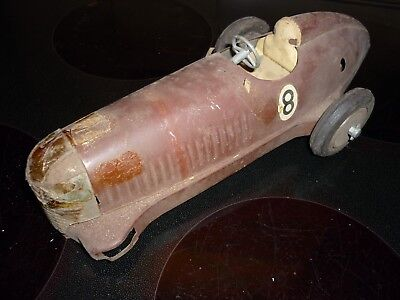 vintage Prestyn Tinplate racing Car old toys