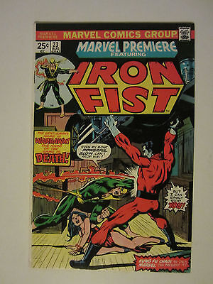 Marvel Premiere #23 Comic Cents Iron Fist Vf+ Bronze Age Comic 1975
