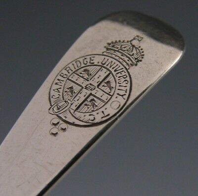 Rare Silver Military Spoon Antique Cambridge University Officers Corp Antique