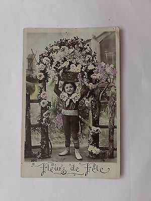 Old French Postcard Greetings Posted 1909