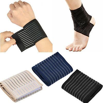 Elastic Bandage Therapy Sport Brace Wrap Knee Wrist Ankle Elbow Pain Relief UK