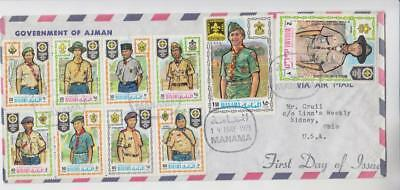 Manama Scouts Airmail First Day Cover
