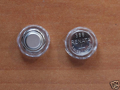 Omega/Pulsar P2/P3 New 386 WATCH BATTERIES & Reusable SPACERS