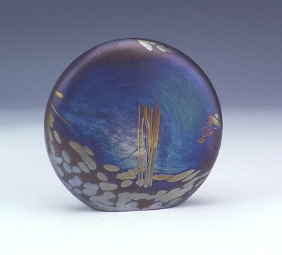 Vintage Glasform - Iridescent Studio Glass Art Object Paperweight - Lovely!