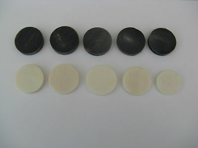 5 Black Buffalo Horn & 5 White Bone Spacers For Walking Stick Making/ Sticks