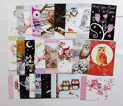 Hunkydory Little Book of Owls inc Christmas Owl Toppers x 24 Sheet