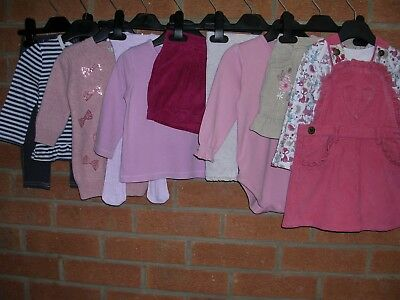 NEXT GEORGE TU etc Girls Bundle Outfits Tops Tights Dress Skirt Age 6-9m