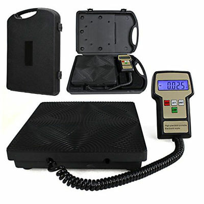 220 lbs Electronic Refrigerant Charging Digital Weight Scale Portable For HVAC