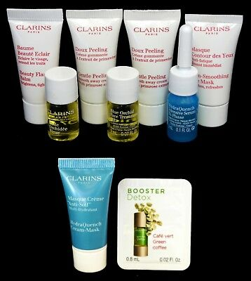 9 x Clarins Eye and Face Product Samples - Unused