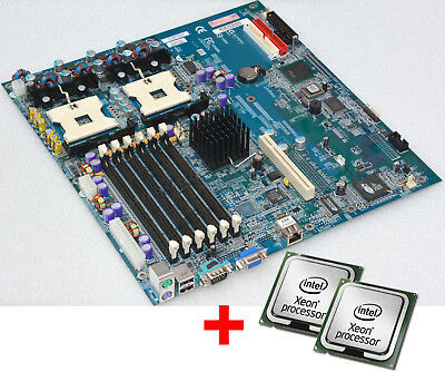 "DUAL SERVER MOTHERBOARD GIGABYTE 8IPXDREL-GG EATX FOR 19"" 48cm +2x CPU XEON 2600"