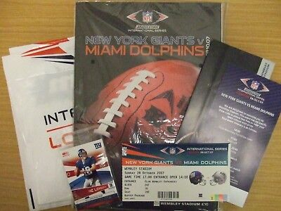 GIANTS v DOLPHINS: 2007 NFL INTERNATIONAL SERIES: WEMBLEY PROG/TICKETS/EXTRAS!!!