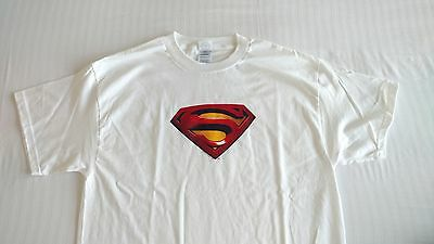 *NEW* SDCC 2016 WB Promotional Superman T-Shirt White - Size Large