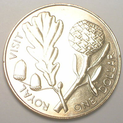 1981 New Zealand One 1 Dollar Royal Visit Coin Prooflike