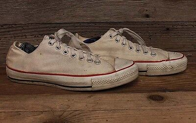 Converse Mens low Made USA Vintage Chuck Taylor og White Shoes sz 8.5