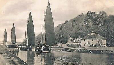 Tomnahurich - Sailing Boats At The Locks On The Caledonian Canal - C.1910