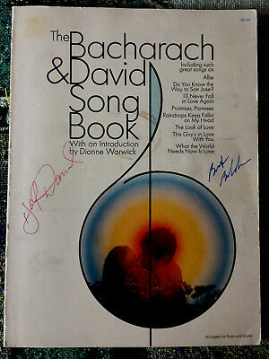 Burt Bacharach & Hal David Autographs Both Signed 1970 Songbook 126 Music Pages