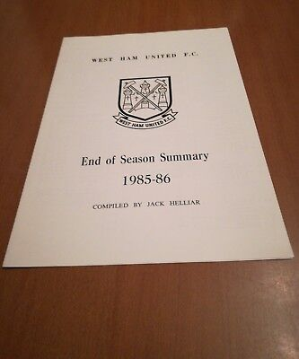 West Ham United Results Summary For 1985/86