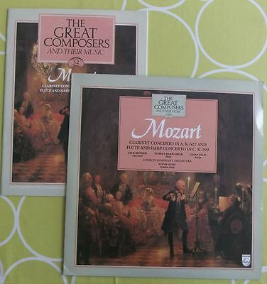 Mozart The Great Composers + booklet Clarinet Concerto in A, Flute & Harp in  C
