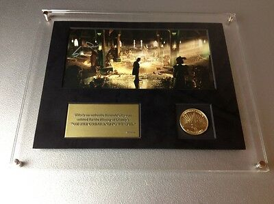 DISNEY OZ THE GREAT AND POWERFUL MOVIE PROP COIN SAM RAIMI SIGNED PHOTO wizard