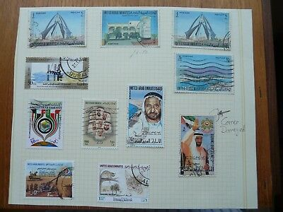 United Arab Emirates (UAE) 100+ on pages (some loose stamps)
