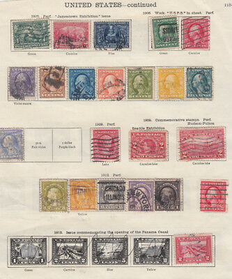 Two very nice old United States Back to Back 1907-1922 pages