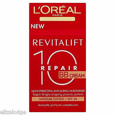 L'OREAL REVITALIFT 10 REPAIR BB CREAM (CHOOSE SHADE FROM DROP DOWN LIST) 50ml