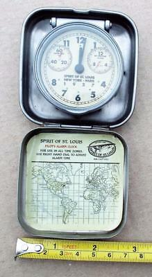 Vintage Style Spirit of St. Louis Travel Alarm Clock. Aviation / Aircraft/Flying