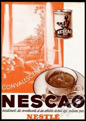 1932 Nestle Nescao coffee large French vintage print ad