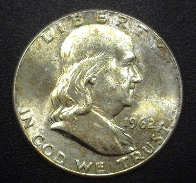 1962 Franklin Silver 50 Cents  Gem+ Uncirculated