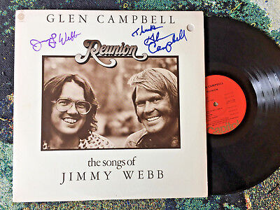 Glen Campbell & Jimmy Webb Autographs Both Signed Reunion 1974 Record Album