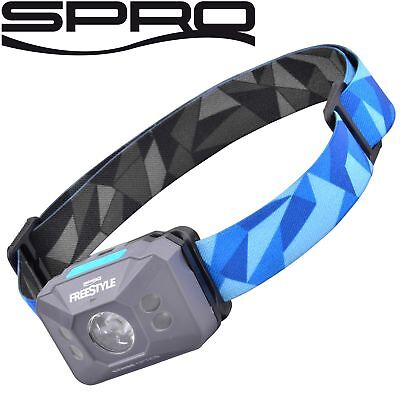 Spro Freestyle Sense Optics Blue - Kopflampe, Stirnlampe, Angellampe